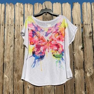Lane Bryant Watercolor Butterfly T-shirt